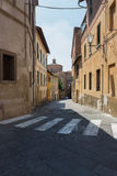 Street in Sienna Stock Photography