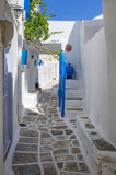 Street in Sifnos island, Cyclades, Greece Stock Images