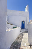 Street in Sifnos island, Cyclades, Greece Royalty Free Stock Photography