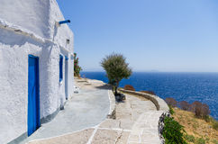 Street in Sifnos island, Cyclades, Greece Stock Image