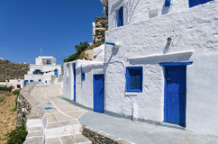 Street in Sifnos island, Cyclades, Greece Stock Photography