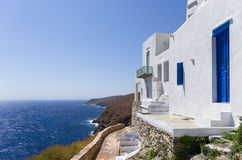 Street in Sifnos island, Cyclades, Greece Royalty Free Stock Image