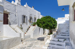 Street in Sifnos island, Cyclades, Greece Royalty Free Stock Images