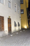 Street in Sighisoara at night Stock Image