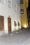 Street in Sighisoara at night Stock Image