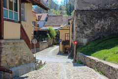 Street in Sighisoara Royalty Free Stock Photography