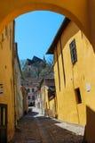 Street in Sighisoara Royalty Free Stock Photos