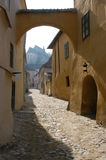 Street in Sighisoara, Romania Royalty Free Stock Photo