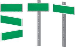 Street Sign. A green street sign and metal post Royalty Free Stock Photos