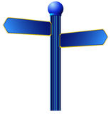 Street sign. A illustration of blue street sign Royalty Free Stock Photo