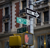 Street sign. In New York , Times square and 42 street stock images