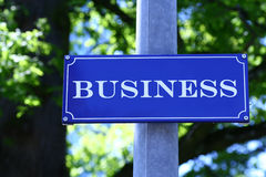 Street Sign. Which says Business Royalty Free Stock Photo