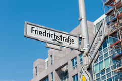 Street sign in Berlin Stock Photography