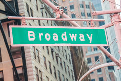 Street sign on Broadway Royalty Free Stock Image