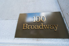 Street sign on Broadway Royalty Free Stock Photography