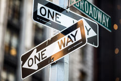 Street sign on Broadway in Manhattan. New York City Royalty Free Stock Image