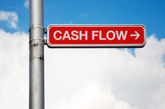 Street sign - Cash flow Royalty Free Stock Image
