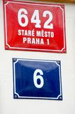 Street Sign in Central Prague Stare Mesto Royalty Free Stock Photos