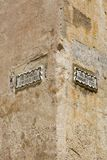 Street sign in the city of Mdina. That was founded as Maleth in around the 8th century BC by Phoenician settlers on the island of Malta stock image