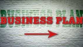 Street Sign to Business Plan. Street Sign the Direction Way to Business Plan stock illustration