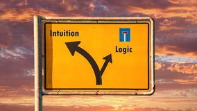 Street sign to intuition versus logic