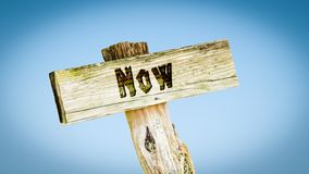 Street Sign to Now. Street Sign the Direction Way to Now stock photography