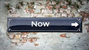 Street Sign to Now. Street Sign the Direction Way to Now royalty free stock image