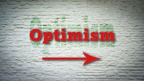 Street Sign to Optimism. Street Sign the Direction Way to Optimism stock photos