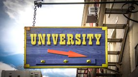 Street Sign to University. Street Sign the Direction Way to University royalty free stock photography