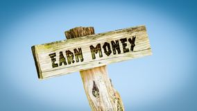 Street Sign Earn Money. Street Sign to Earn Money royalty free stock photography