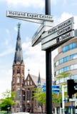 Street sign of Eindhoven landmarks Royalty Free Stock Photos