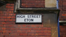 Street Sign in England Royalty Free Stock Photo