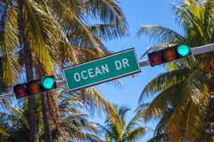 Street sign of famous street Ocean Drice Royalty Free Stock Photography