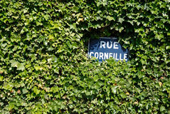 Street sign in France Stock Photos