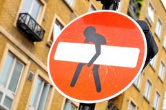 Street sign. Funny street sign in central London royalty free stock images