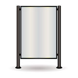 Street sign glow. Street sign with space to add your own advert of text in blank space Royalty Free Illustration