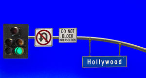 Street sign Hollywood Boulevard Stock Image