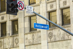 Street sign Hollywood Boulevard Stock Photos