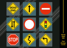 Street Sign Icon Collection Royalty Free Stock Photos