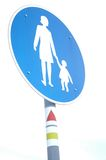 Street sign II. Street sign - special road for pedestrians Royalty Free Stock Photography