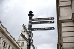 Street sign in London downtown. Stock Photos