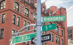 Street sign of Madison avenue in New York City. USA Royalty Free Stock Photos