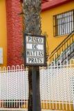 Street sign in Malaga Spain Stock Photo