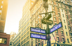 Street sign in New York City Royalty Free Stock Images