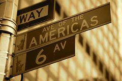 Street sign NY. A street sign in New York royalty free stock photography