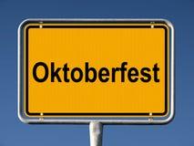 Street sign Oktoberfest Royalty Free Stock Photos