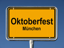 Street sign Oktoberfest in Munich Stock Photo