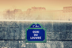 Street sign in Paris Royalty Free Stock Photo