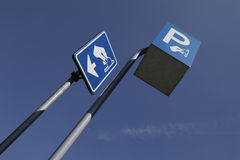 Street sign for payed parking Royalty Free Stock Photo