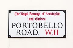 Street sign of Portobello Road in London Stock Photo